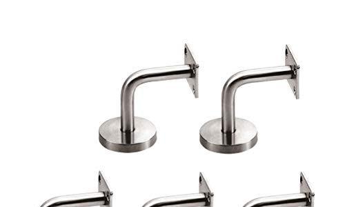 OUNONA 5 Stück Handlaufhalterungen aus Edelstahl zur Wandbefestigung Silber
