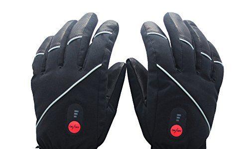 Savior beheizte Handschuhe für Männer und Frauen, Palm Lederhandschuhe für Winterski und Eislaufen , Arthritis Handschuhe und 7.4V 2200 Mah Elektrische wiederaufladbare Batterien Handschuhe Schwarz
