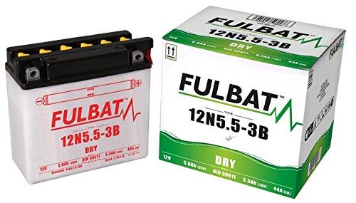 Yamaha YZF-R 125, 2008-2013, 12N5.5-3B, DIN50611 DRY Fulbat Batterie mit Säurepack