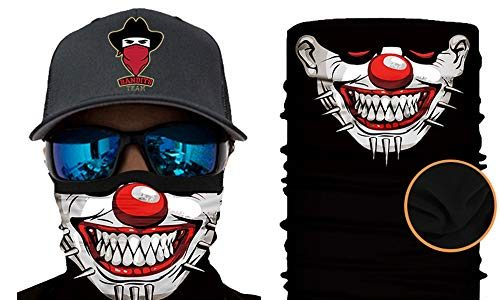 Winter-Fleece Bedrucktes Multifunktionstuch Bandana Halstuch Kopftuch: Face Shield- Material ist flexibel und atmungsaktiv – Maske fürs Motorrad-, Fahrrad- und Skifahren