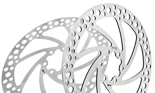 Fippy 160mm 180mm 203mm Fahrrad Bremsscheibe 2 Stück Edelstahl Rotor Bremsscheibe mit 12 Schrauben Fahrrad Bremsscheibe Mountainbike Bremsscheiben 180mm