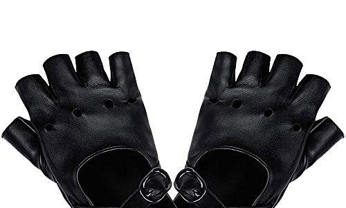 LYTIVAGEN 1 Paar Punk Handschuhe Nieten Handschuhe Fingerlos Rock Handschuhe Damen Lederhandschuhe für Tanz, Hip Hop, Performance, Pole Dance, Cosplay, Party