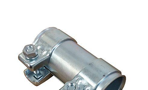 Auspuff Rohrverbinder Ø 40-43mm x125mm verzinkt universal Verbinder + 2x Auspuffschelle 46,7
