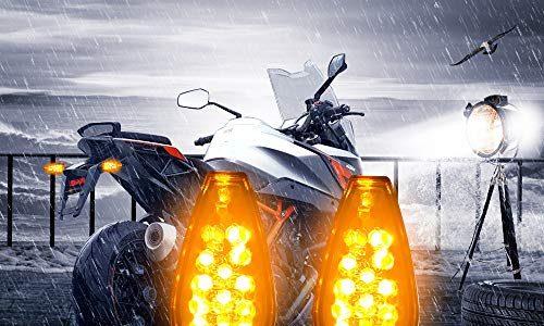 Led Motorrad Blinker, Aolead Universal Rückseite Signal Indicator Led Blinker, DC 12V Bernstein Lampe 2 Stück
