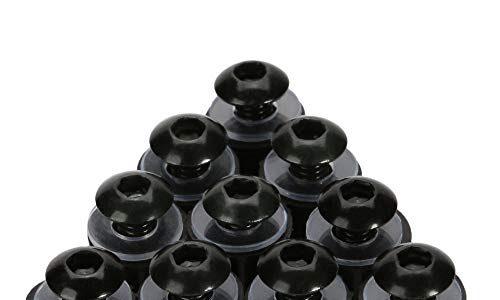 OSAN 10x M5 x 16mm Motorrad Windschutzscheiben Bolzen Schrauben Screw Kit CNC-Aluminum Schwarz