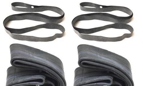 2x Schlauch u. Felgenband Satz 3.25/3.50-16 Zoll für MZ ES TS Reifen gerades Ventil