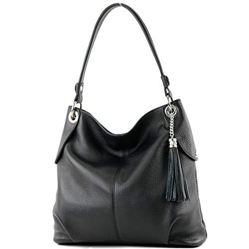 Top 9 Damentasche Leder Schwarz groß – Damen-Schultertaschen