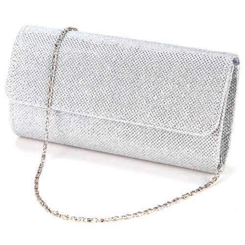 Top 7 Clutch Glitzer Silber – Damenhandtaschen
